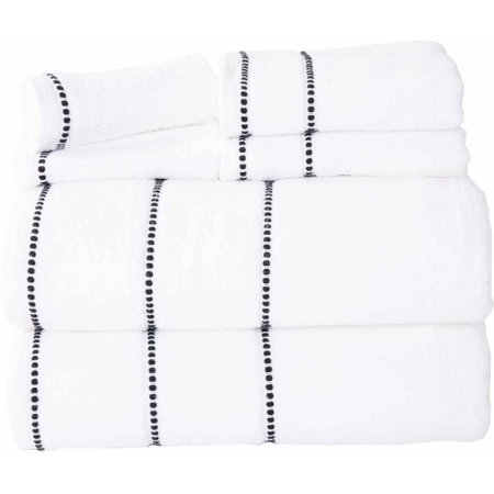 Somerset Home Quick Dry 100% Cotton Zero Twist 6-Piece Towel Set