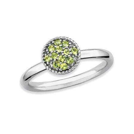 Ladies Natural Peridot Ring 1/5 Carat (ctw) in Sterling Silver - image 1 de 3