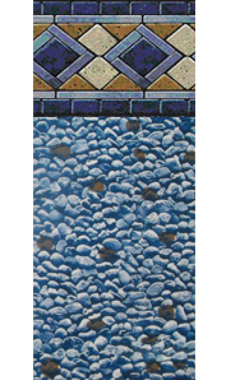 24-Foot Round Mosaic Diamond Unibead Above Ground Swimming Pool ...