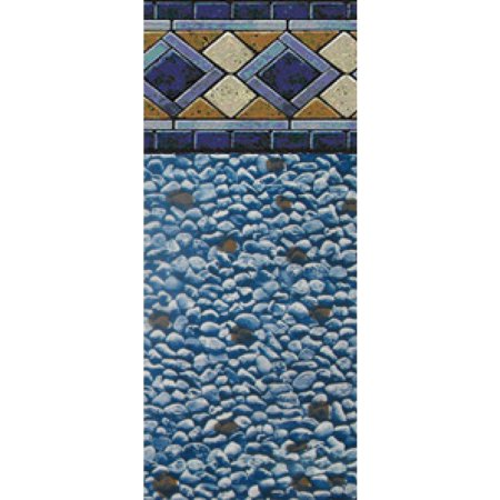 24-Foot Round Mosaic Diamond Unibead Above Ground Swimming Pool Liner - 48-Inch Wall Height - 25 Gauge