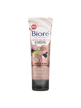 Bior Rose Quartz + Charcoal Oil-Free Gentle Pore Refining Facial Scrub, 4 fl oz