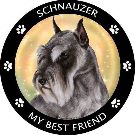Schnauzer Cropped My Best Friend Dog Breed Magnet