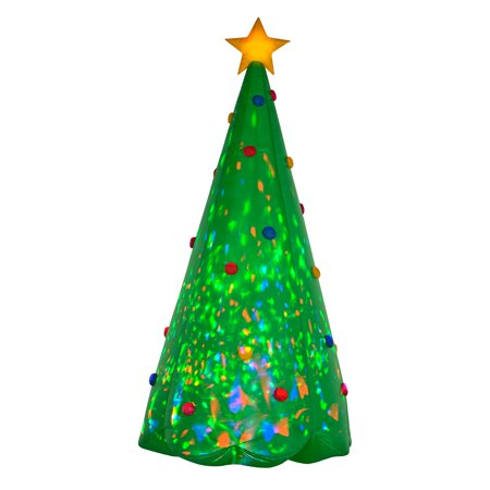 Gemmy Airblown Projection Kaleidoscope Christmas Tree Inflatable