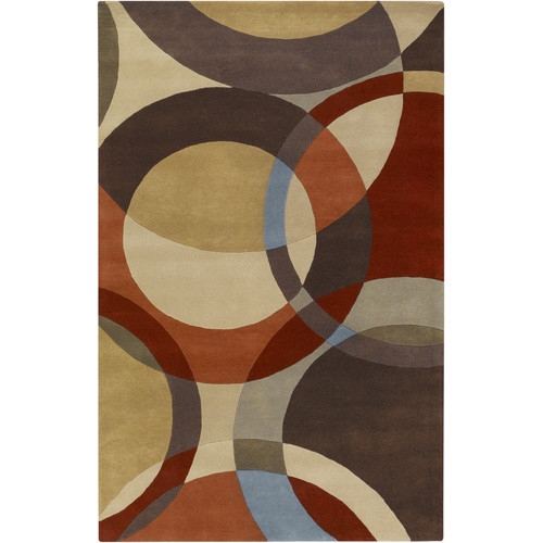 Surya Forum Chocolate/Red Area Rug