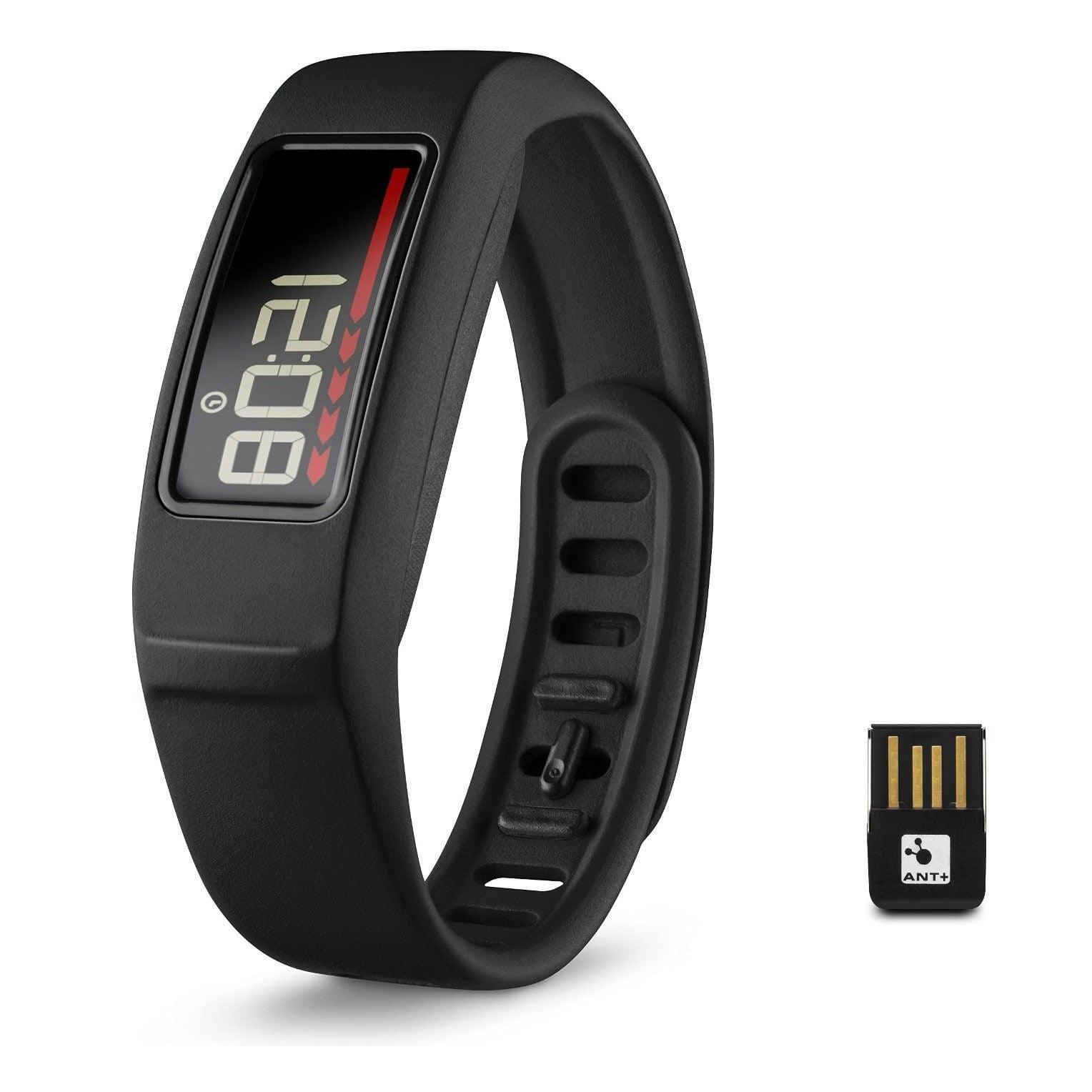 Refurbished Garmin Vivofit 2 Wireless Fitness Activity Tracker Band w/ USB ANT Stick - Black