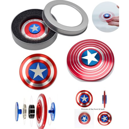 Marvel Captain America  Fidget Spinner Aluminum High Quality