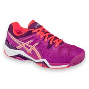 Asics  Women's Gel Resolution 6 Berry/Coral/Plum Synthetic Leather/Mesh Tennis Shoes