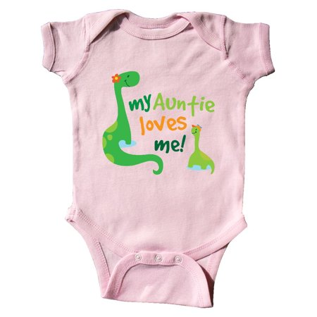 Baby Pink Creeper - My Auntie Loves Me dinosaur Infant Creeper
