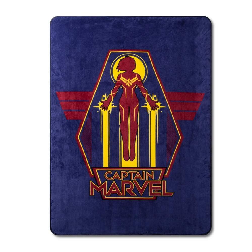 Captain Marvel Twin Bed Blanket 62 x 90