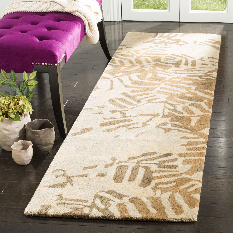 martha stewart palm leaf abstract area rug. Black Bedroom Furniture Sets. Home Design Ideas