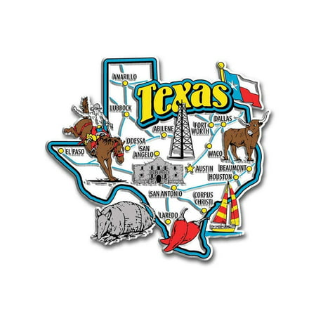 - Texas Jumbo State Map Fridge Magnet