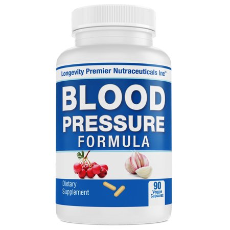 Longevity Blood Pressure Formula - Clinically formulated - With Hawthorn & 15+ all natural