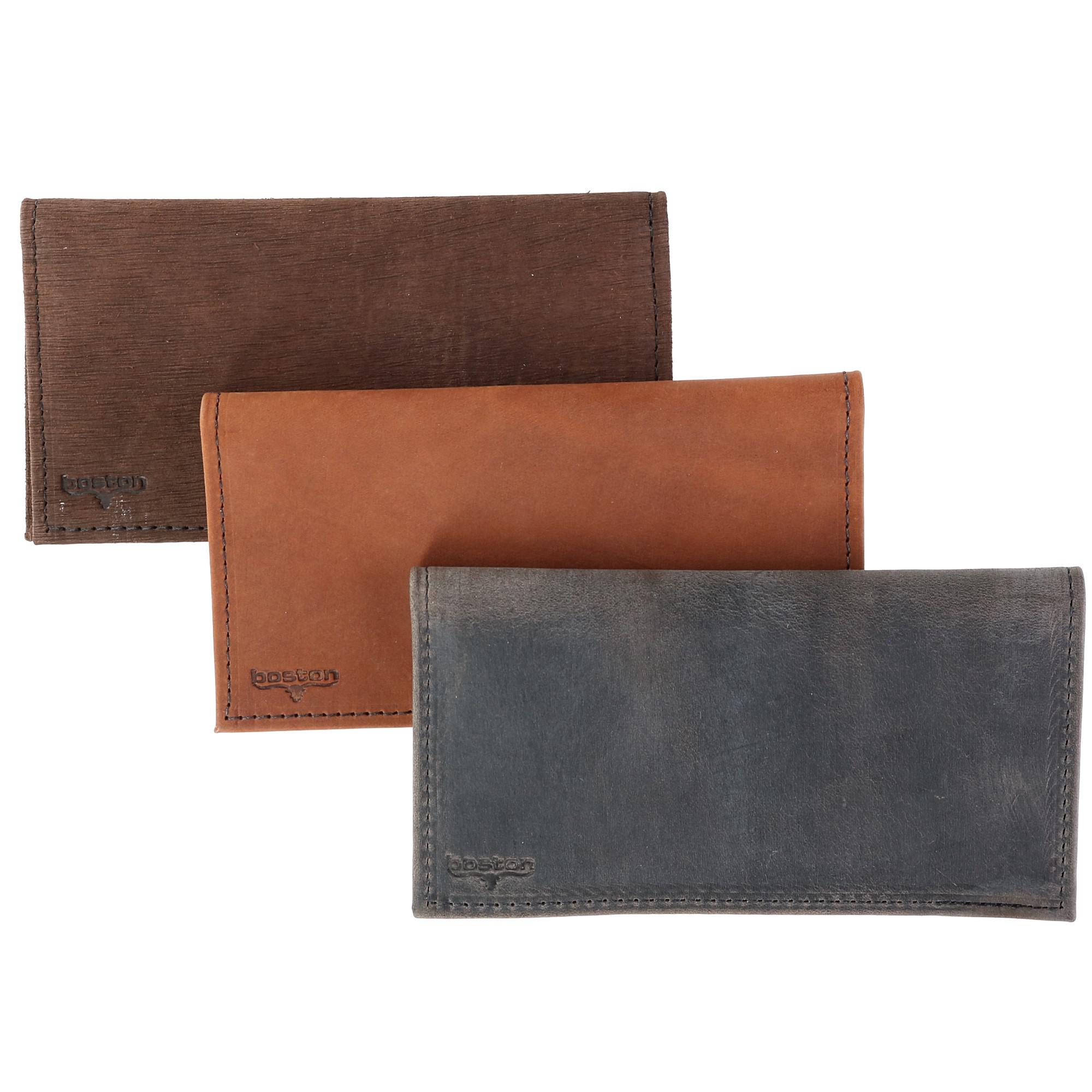 Boston Leather Multi Leather Checkbook Cover Set (Pack of 3) - image 4 of 6