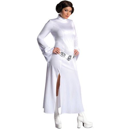 Princess Leia Adult Halloween Costume, One Size - Women's 14-16 - Homemade Princess Jasmine Costume Adults