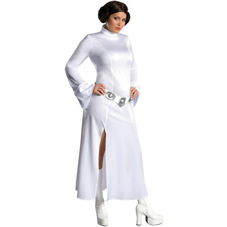 Princess Leia Adult Halloween Costume, One Size - Women's 14-16 - Womens Size 14-16 Halloween Costumes