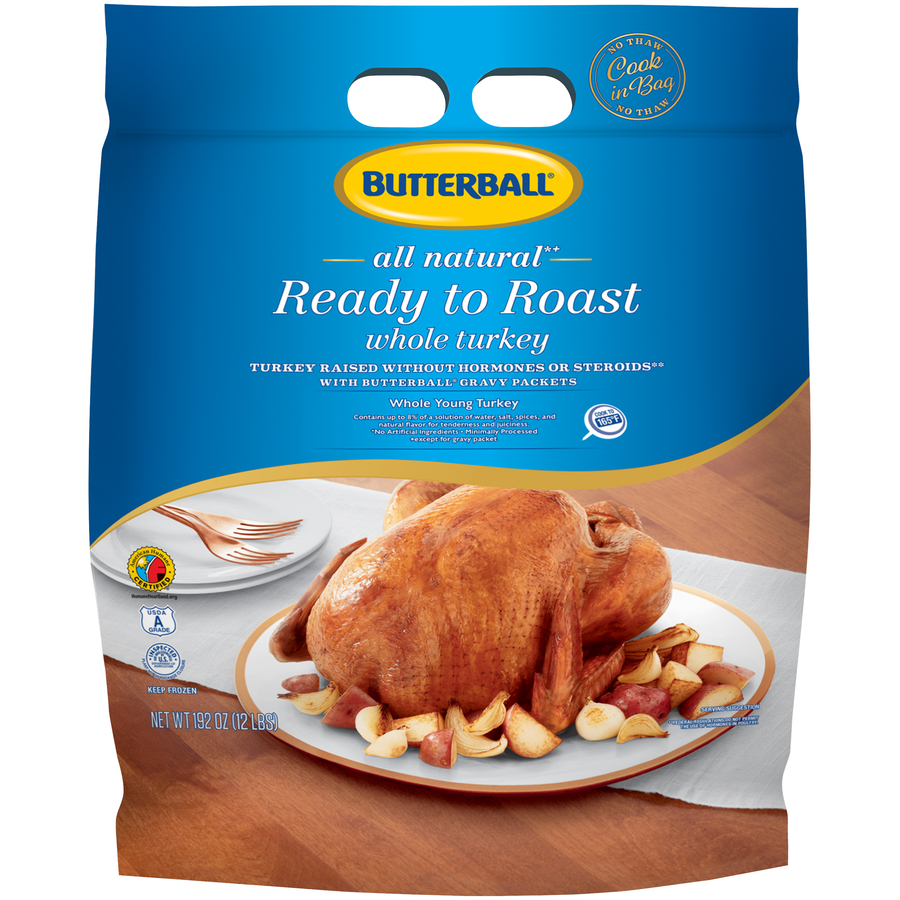 Butterball® Frozen Ready to Roast All Natural Whole Turkey, 12 lb