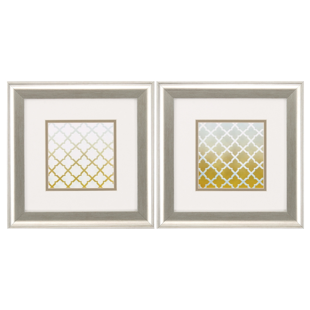 Propac Images 1630 Yellow Lattice, Pack of 2