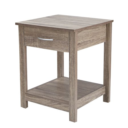 Joveco Square Accent End Side Table Nightstand Salt Oak 4