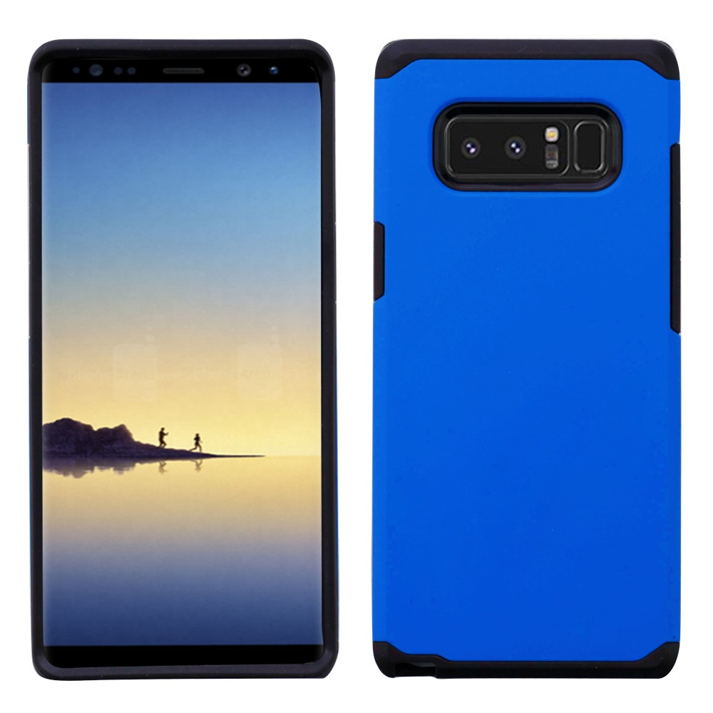 Kaleidio Case For Samsung Galaxy Note 8 [Astro Armor] Rugged Slim Fit [Shock Absorption] [Dual Layer] Hard Hybrid Cover w/ Overbrawn Prying Tool [Blue/Black]