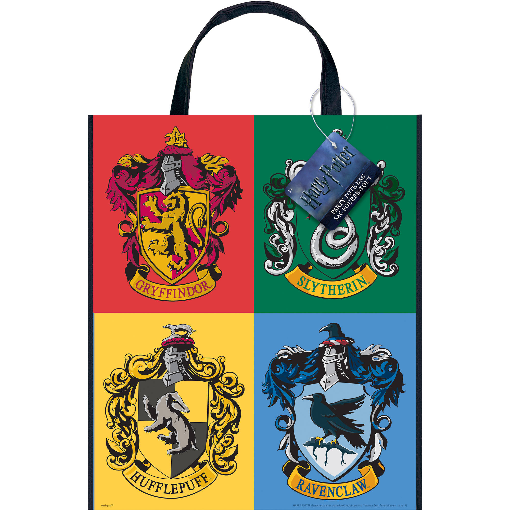 Large Plastic Harry Potter Goodie Bag, 13 x 11 in, 1ct