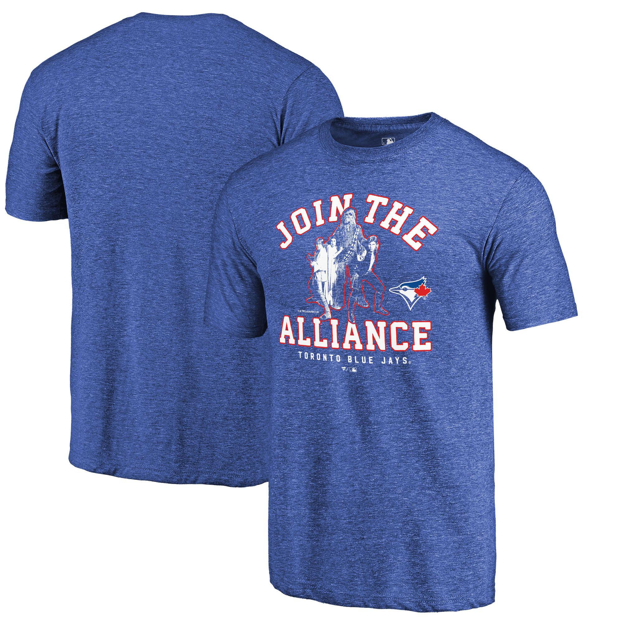 Toronto Blue Jays Fanatics Branded MLB Star Wars Join The Alliance Tri-Blend T-Shirt - Royal