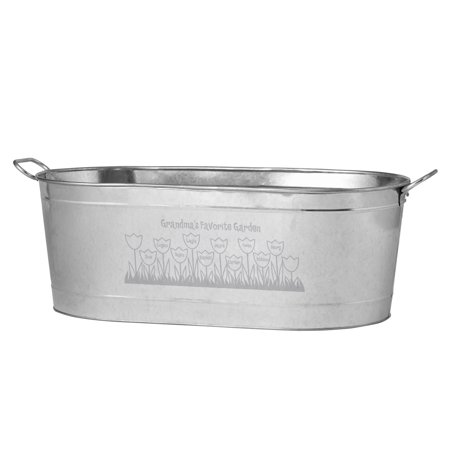 Personalized Tulip Garden Planter Tub-Available with our without Stand