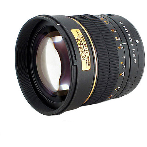 Rokinon 85mm f/1.4 Aspherical Lens (for Canon EOS Cameras)