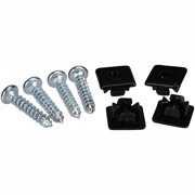 AutoDrive Chrome License Plate Fasteners