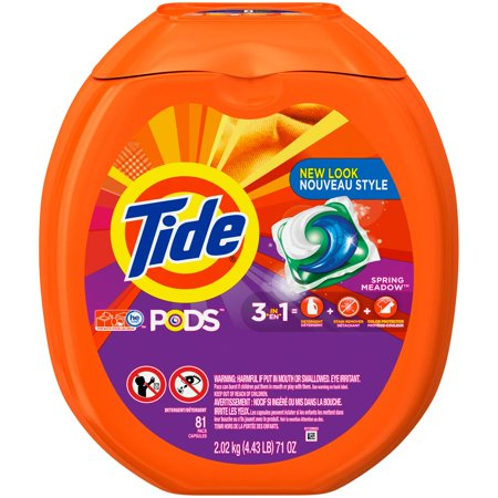 Tide Pods Spring Meadow Scent He Turbo Laundry Detergent Pacs  81 Count