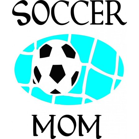 Soccer Mom Wall Decal Picture Art Living Room Home Decor Sticker Vinyl