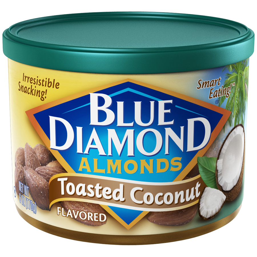 Blue Diamond Almonds Toasted Coconut Flavored 6 oz. Can - Walmart.com
