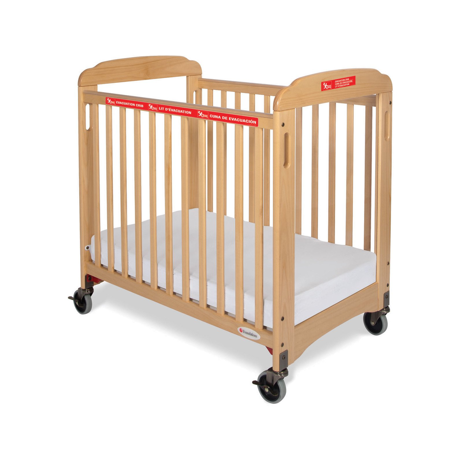 Foundations First Responder Evacuation Clearview Compact Crib with Evacuation Frame