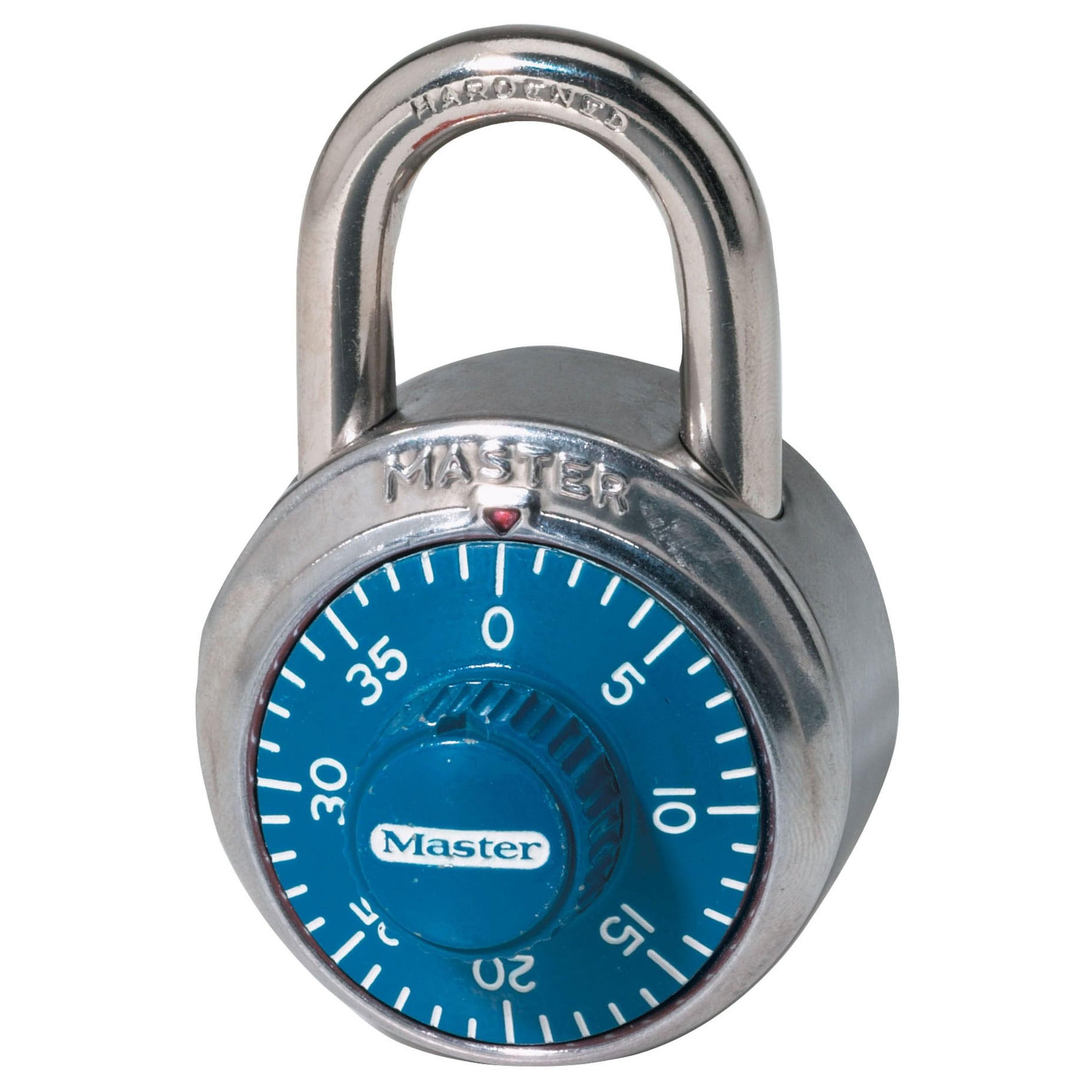 Combination Padlock,Center,Blue Silver MASTER LOCK 1506D by Master Lock, LLC