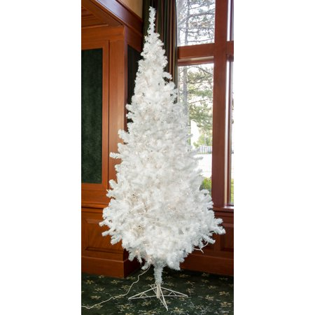 Artificial Pre-Lit Treeforest Snowball Fir Holiday Christmas Tree White (15-Foot) ()