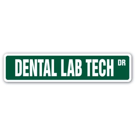Dental Lab Tech Street [3 Pack] of Vinyl Decal Stickers | Indoor/Outdoor | Funny decoration for Laptop, Car, Garage , Bedroom, Offices | SignMission
