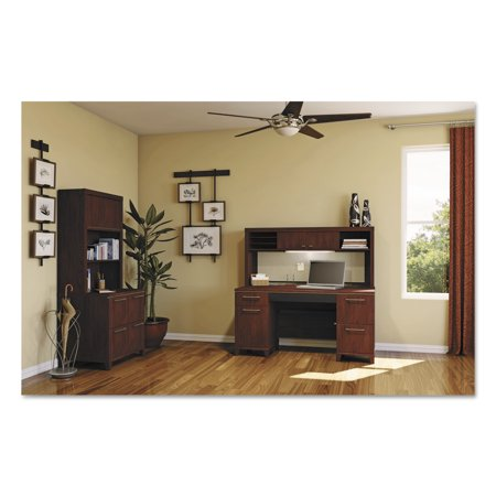 Cherry Double Width Wall (Bush Enterprise Collection 60W Double Pedestal Desk, Harvest Cherry (Box 1 of 2))
