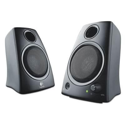 Z130 Compact 2.0 Stereo Speakers, 3.5mm Jack, Black, Sold as 1 Each