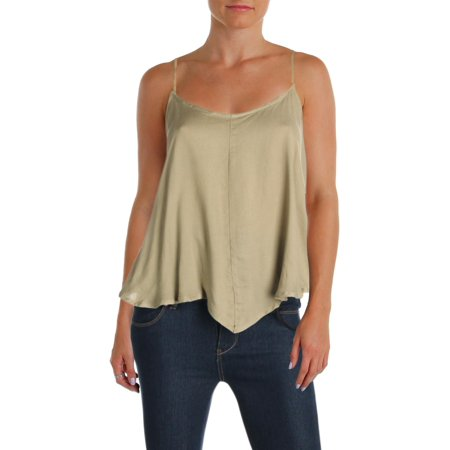 Intimately Free People Womens Crossroads Tie-Strap Pointed Hem Camisole Top