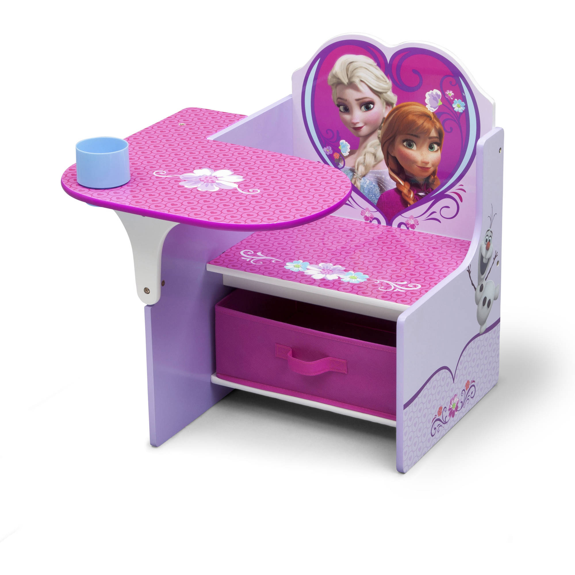 Disney Frozen Toddler Child Chair Desk with Bonus Storage Bin by