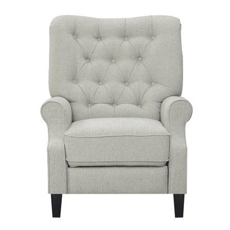 Pemberly Row Scout Clearwater Sand Press Back Recliner with Tufted Back ()