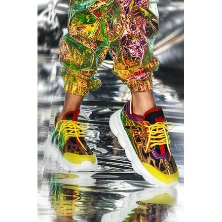 Cape Robbin Athena Multi Color Lace Up Low Top Super Platform Athleisure Sneaker (6) (Athena Top In Black)