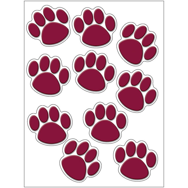 MAROON PAW PRINTS ACCENTS