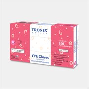Tronex-CPE Embossed Glove, Food Safe, Powder-Free, Clear, Medium (Case of 1000)