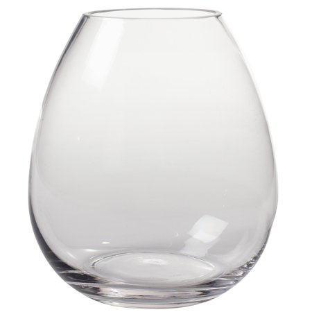 Couronne Co Breda Recycled Glass Vase, 8 inches tall, 7266, 106.5 Ounce Capacity, Clear - Tall Clear Glass Vases