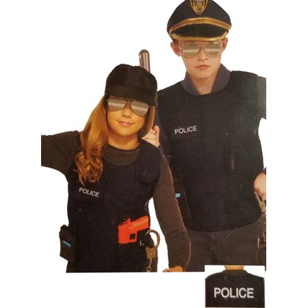 Police Vest Boys Child Black Cop Officer Costume Accessory (Female Cop Costumes)