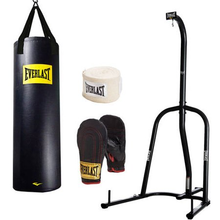 Everlast 100 lb Heavy Bag Kit with Single-Station Stand Value Bundle
