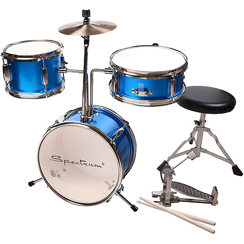 Click here to buy Spectrum AIL 620B 3-Piece Junior Drum Kit, Electric Blue by Ashley Entertainment.