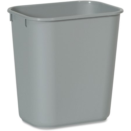 Rubbermaid Commercial, RCP2955GY, Standard Series Wastebaskets, 1, Gray