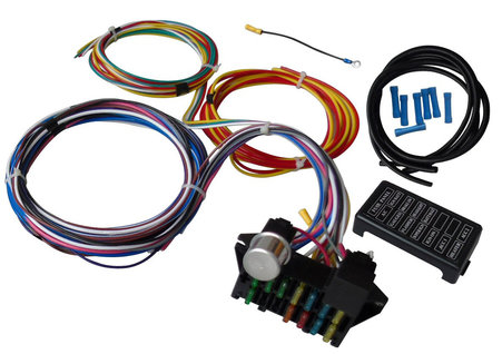 12 circuit universal wire harness muscle car hot rod street rod new rh walmart com Trailer Wiring Harness Ford Wiring Harness Kits