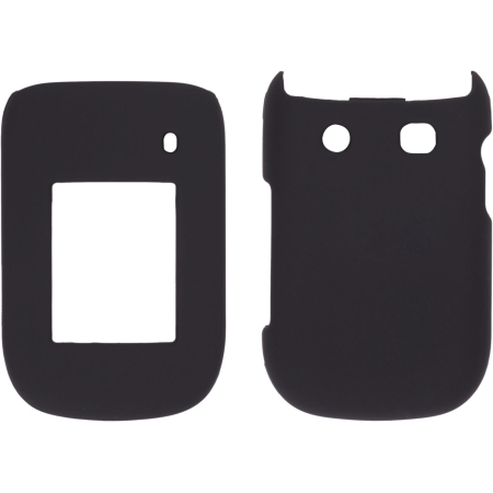 Sprint Two piece Soft Touch Snap-On Case for BlackBerry Style 9670 - Black - image 1 de 1